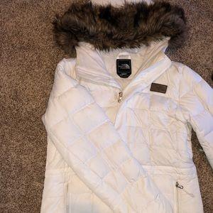 White North Face Winter Coat